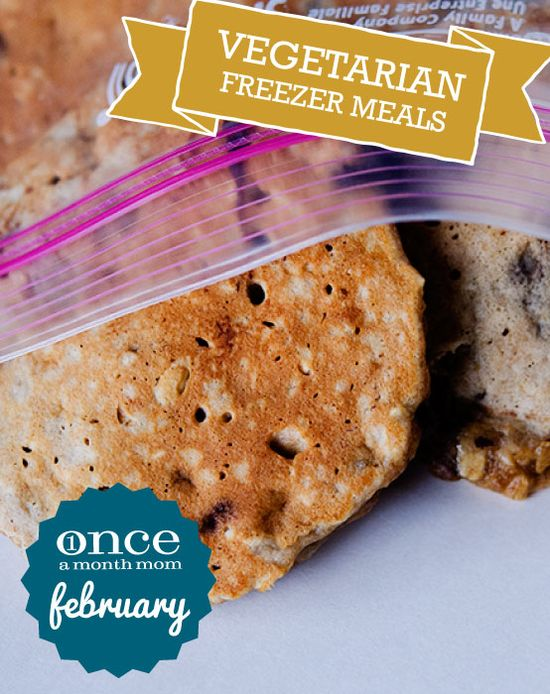 Vegetarian February 2013 Freezer Meals Menu