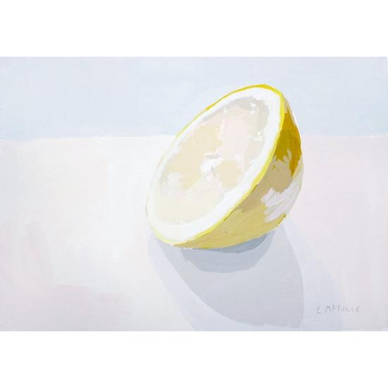 simple grapefruit painting