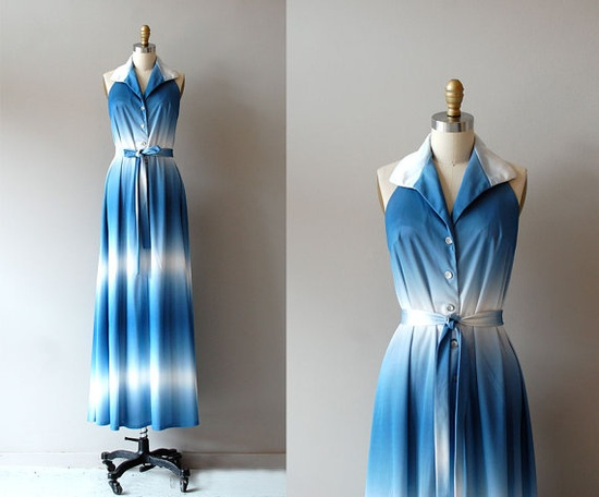 Ombre Sky maxi dress by DearGolden, $125.00    #vintagedress