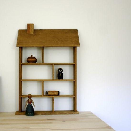 vintage handmade doll house shelf