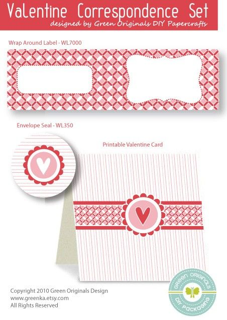 Valentine Cards and Labels