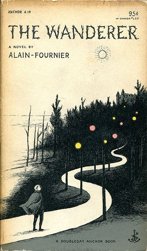 "Alain-Fournier, ""Le Grand Meaulnes""  (1953) cover by Edward Gorey,  typography by Joseph Ascherl"