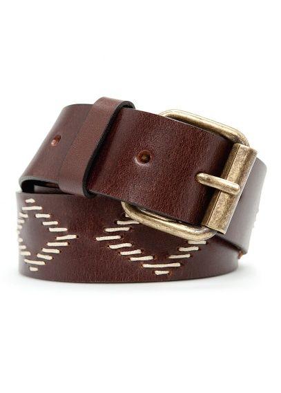 Patterned Leather Belt #fashion #menswear
