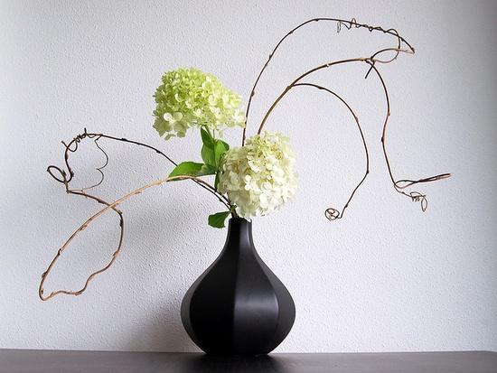 ikebana with hydrangea #Otomodachi