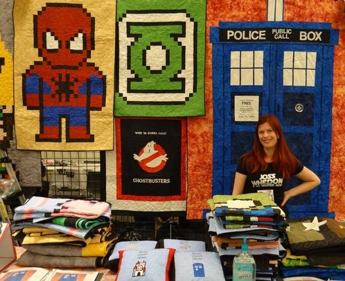 Amazing hand made quilts of all geekiness.