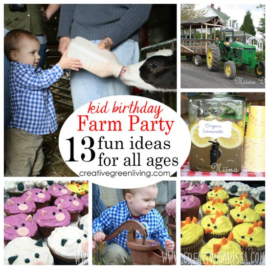 great ideas for a fun, easy farm birthday party for kids