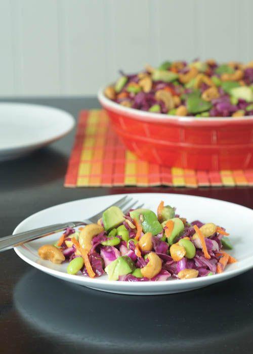 cashew cabbage crunch salad