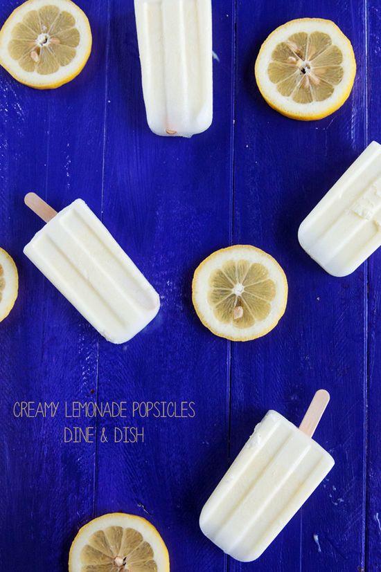 Sweet and Creamy Lemonade Popsicles - 4 simple ingredients!