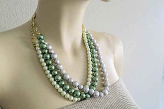 Bridesmaids Pearl Necklace Wedding Pearl by PearlJewelryNecklace, $48.00