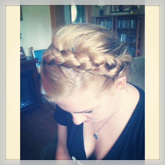 Braidover, French braid, blonde hair
