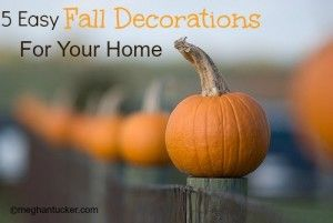 5 Easy Fall Decorations For Your Home