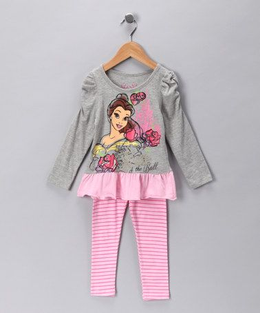 Heather Gray Belle Tunic & Leggings - Toddler by Disney on #zulily!