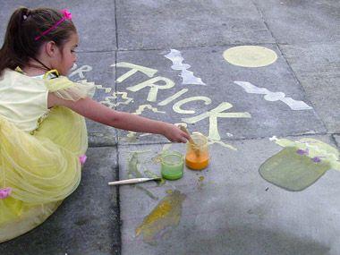 Sidewalk Paint Powder Recipe