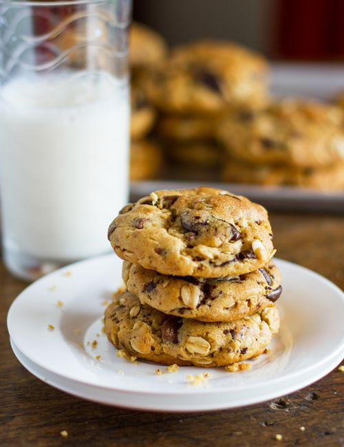 Decorated Cookies: Peanut Butter Oatmeal Chocolate Chip Cookies