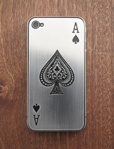 Ace of Spades iPhone 5 Luxe Plate