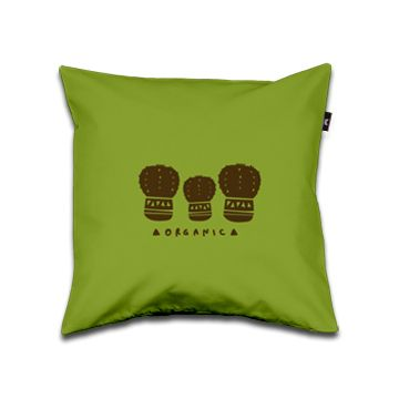 Organic Pillow 40x40 green and brown dettagli home design
