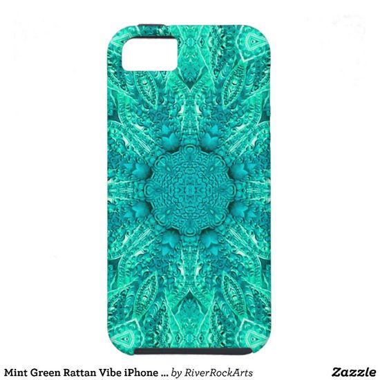 Mint Green Rattan Cell Phone Case by RiverRockArts on Zazzle