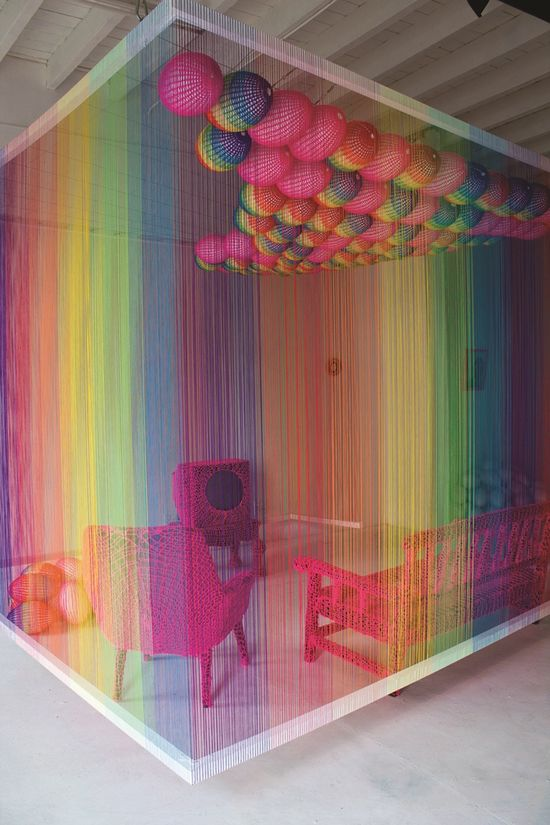 Yarn Installation by Pierre Le Riche