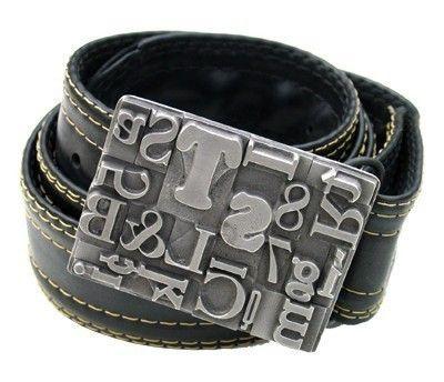 Letterpress belt buckle