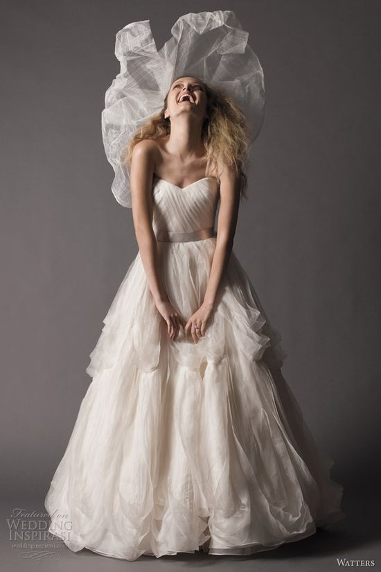watters fall 2012 brides strapless ball gown wedding dress