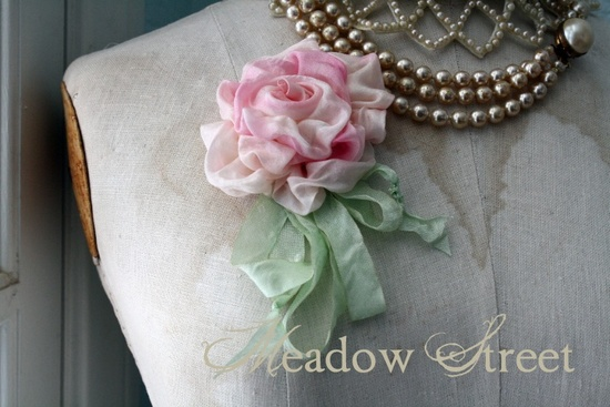 Handmade Rose Pin