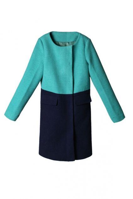 color blocking coat