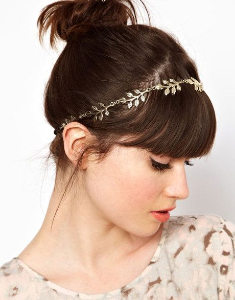 Grecian Leaf Hairband - Lyst