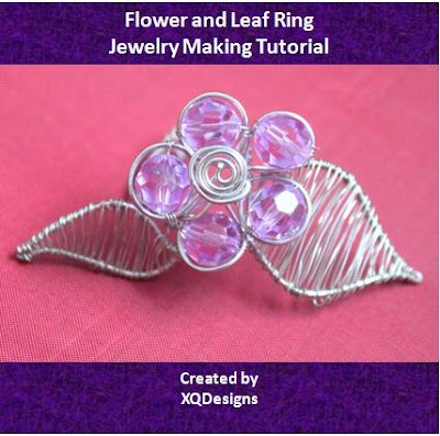 How to make wire jewelry: Flower and Leaf Ring