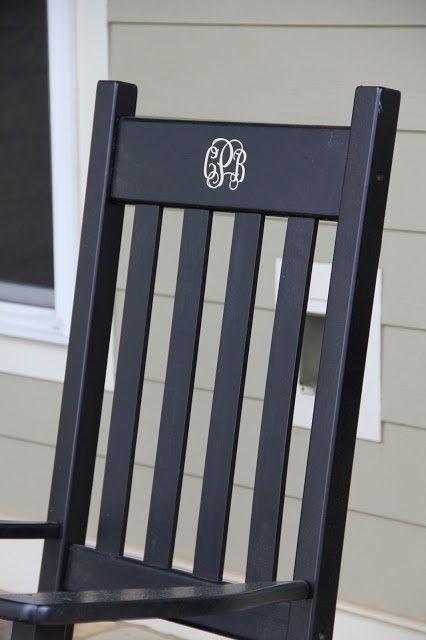 Monogram chair