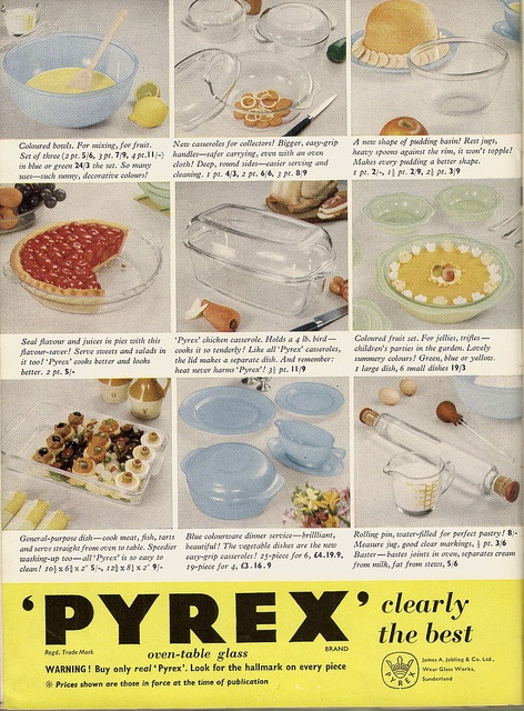 No argument on this end, Pyrex clearly is the best! #vintage #ad #1950s #kitchen #Pryex