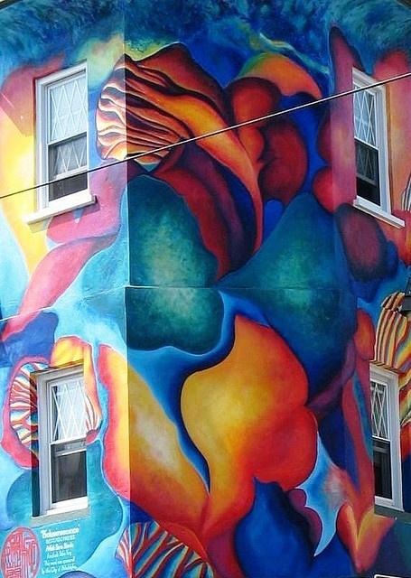 Bioluminescence mural.