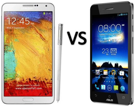 Compare Samsung Galaxy Note 3 vs Asus PadFone Infinity