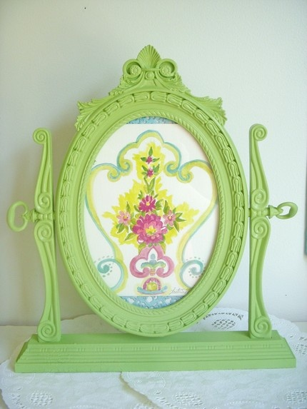Love this! I have an old frame just like this!...time to get out the paint!