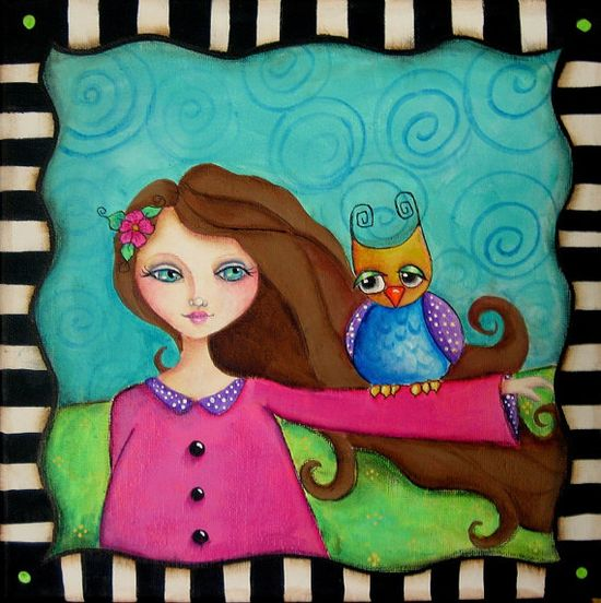 HOOS your BUDDY original 12 x 12 Acrylic by Artistic Accents