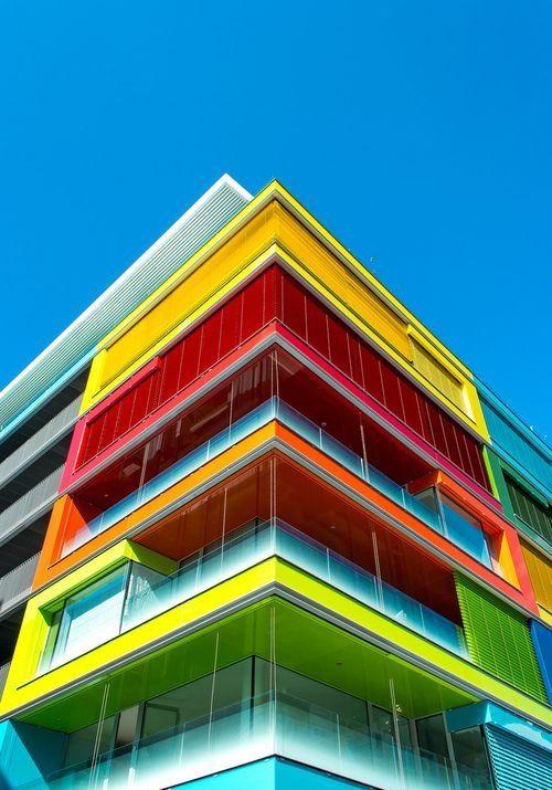 Colorful Building colorful sky building architecture skyscraper