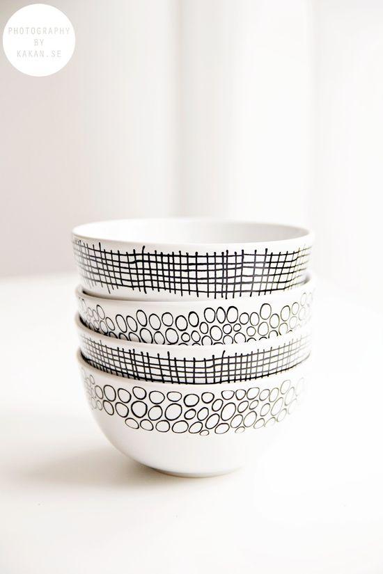 #interior #decor #styling #BW #black #white #ceramics