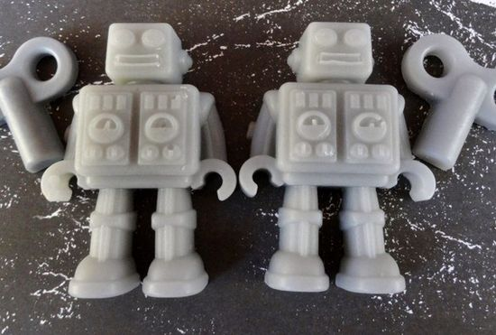2 HeAvY MeTaL RoBoT SoAps FREE Gift Box by sweetsoaptreat on Etsy, $ 4.00