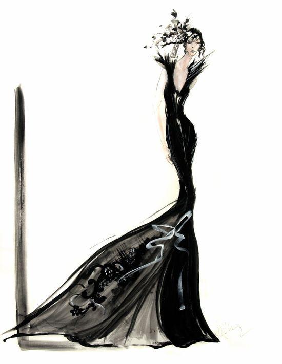 by david downton #fashion #illustration