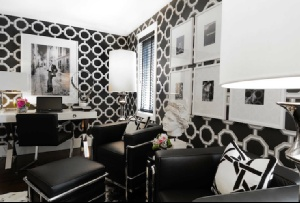 Atmosphere Interior Design Gorgeous black & white contemporary office design with ...