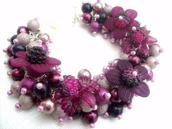 Handmade charm bracelet by Kim Smith