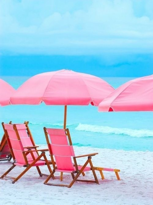 Pink chairs & Umbrellas