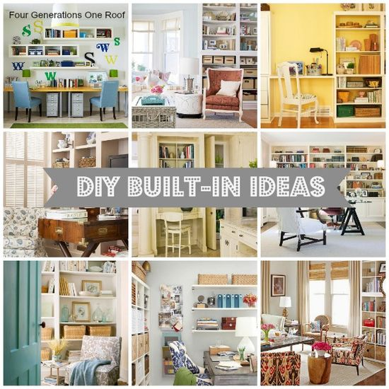 10 DIY built in ideas {decorating inspiration} @Mandy Dewey Generations One Roof