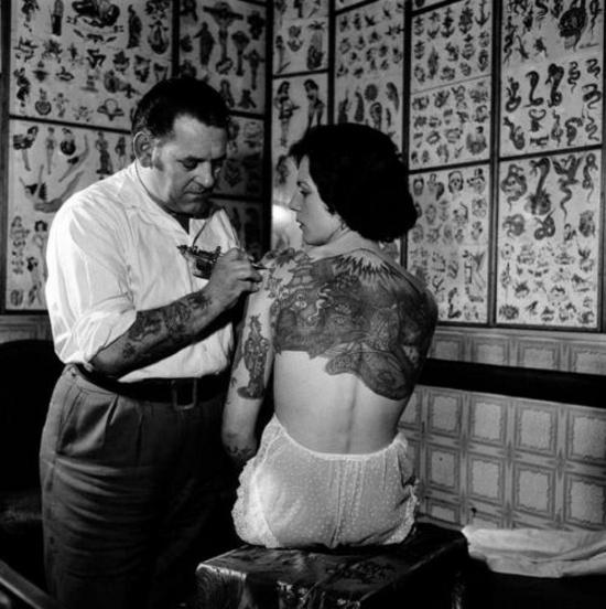 Classic tattoo shop.