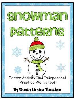 Freebie: Winter Snowman Patterns