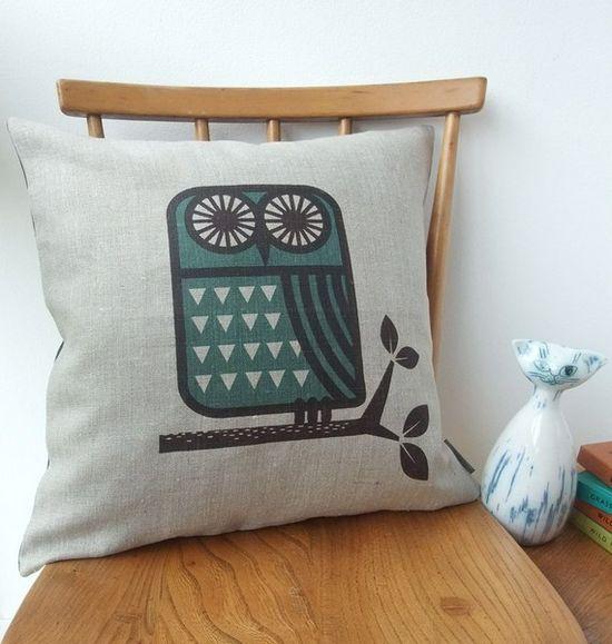 Lovely owl cushion.