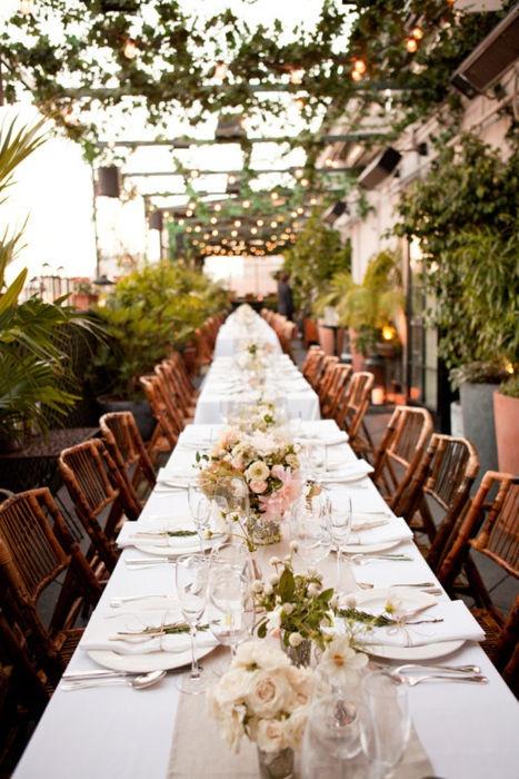 greenhouse reception for the garden wedding