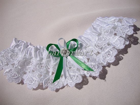 White #Bridal Lace #Garter Bridal lace garter with by GarterMart, $24.00 #garters #brides #weddings