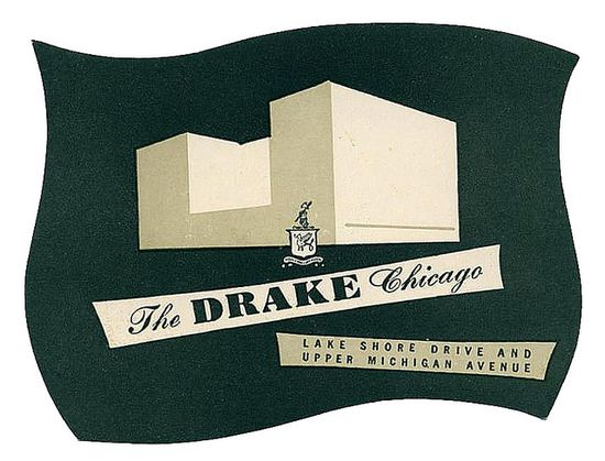 Luggage Tag: The Drake Hotel, Chicago