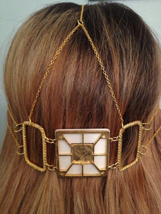 Art deco hair jewelry.