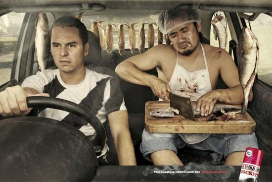 "Car Air Freshener: ""Fish"" Print Ad"